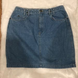 Liz Wear Petite Jean Skirt
